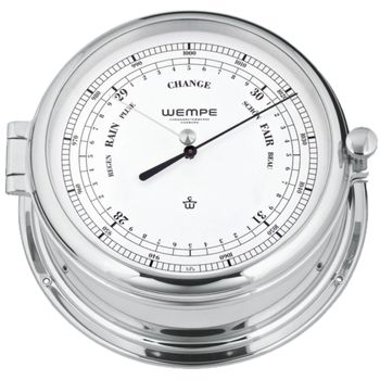 Wempe Barometer Admiral II Messing verchromt