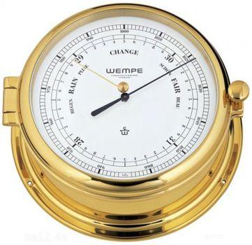 Wempe Barometer Admiral II Messing hochglanz