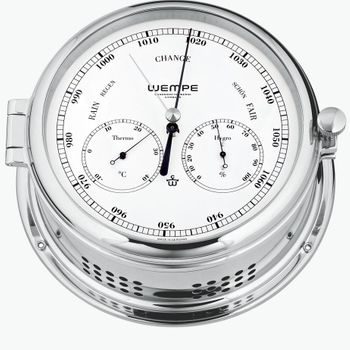Wempe Serie Admiral II Messing verchromt - Quarz-Glasenuhr und Kombi-Messinstrument – Bild 3