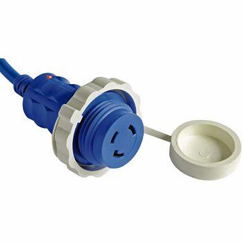 Osculati 15m Kabel blau und Stecker mit integrierter LED-Anzeige wasserdicht max. 30 Ampere – Bild 2