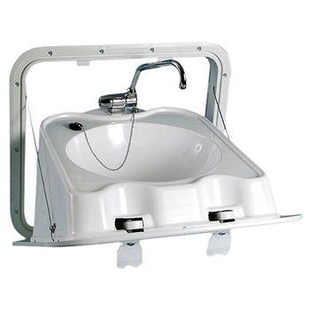 Osculati Waschbecken Zusammenklappbar aus ABS inkl. Klapphahn 520x460mm