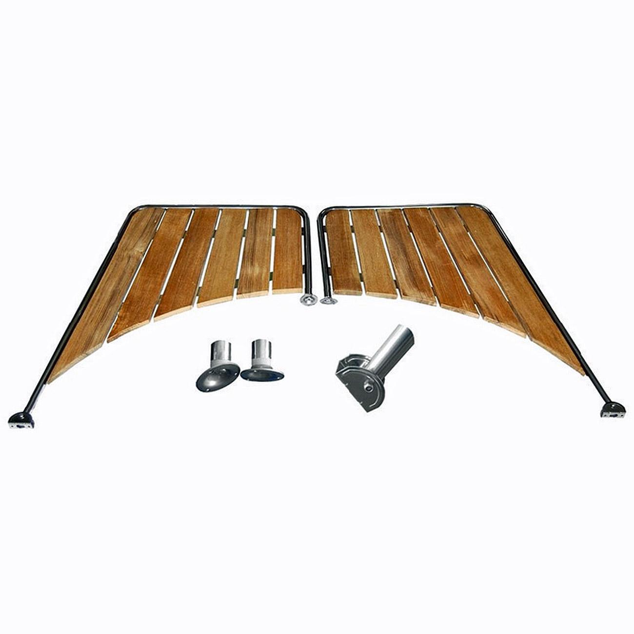 Osculati Edelstahl Badeplattform für rundes Heck 530x430x885mm