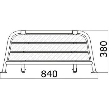 Osculati Edelstahl Heck-Plattform mit verstellbarer Halterung - 840 x 380 mm – Bild 2