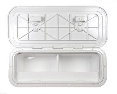 Osculati ABS Seitenfach - 600mmx250mm - mit Frontklappe - erhältlich mit oder ohne Unterteilung des Faches – Bild 3
