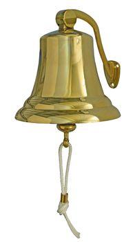 Osculati Messing Schiffsglocke mit Haltebügel - erhältlich: Ø100mm, Ø150mm oder Ø175mm - – Bild 2