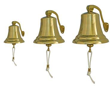 Osculati Messing Schiffsglocke mit Haltebügel - erhältlich: Ø100mm, Ø150mm oder Ø175mm - – Bild 1