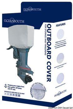 Oceansouth Motor-Abdeckung für 2/4-Takt-Außenborder - Schutzhülle für den Motorkopf – Bild 4