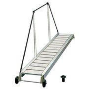 Osculati Eloxal Gangway mit rutschsicherer Lauffläche und überdimensionierten Stützen - Länge 2,1m, Breite 36cm - unverstellbare Ausführung 001