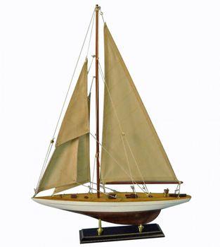 Navyline Holz Modellschiff Einmaster Segelschiff fertig Standhalterung – Bild 1