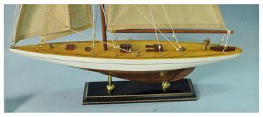 Navyline Holz Modellschiff Einmaster Segelschiff fertig Standhalterung – Bild 2