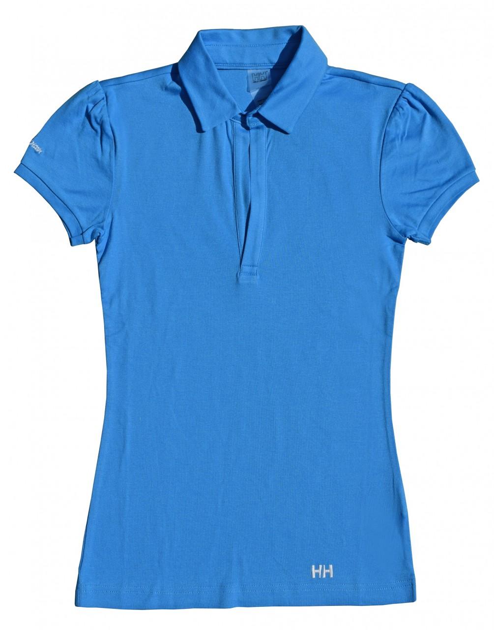 helly hansen polo shirt damen xs t shirt azur blau schmal geschnitten kurzarm ebay. Black Bedroom Furniture Sets. Home Design Ideas