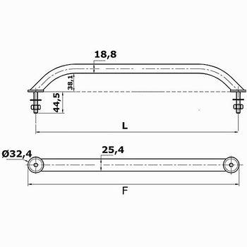 Osculati Edelstahl Handlauf - ovales Rohr – Bild 2