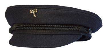 Modas Original Elbsegler mit vergoldeter Anstecknadel - marineblau – Bild 4