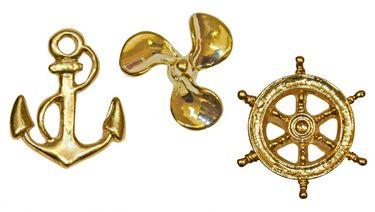 Modas Original Elbsegler mit vergoldeter Anstecknadel - marineblau – Bild 8