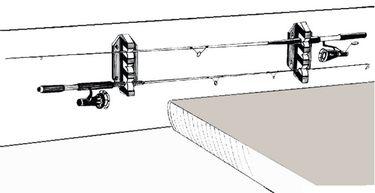 Osculati Halterungen zur Angelrutenaufbewahrung - für 3 oder 5 Angeln  - 2-er Set – Bild 4