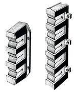 Osculati Halterungen zur Angelrutenaufbewahrung - für 3 oder 5 Angeln  - 2-er Set 001