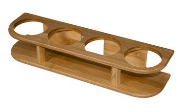 Bamboo Marine System Bambus Halter - 2er oder 4er Gläserhalter – Bild 3