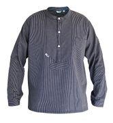 Modas Finkenwerder Fischerhemd BasicLine schmal gestreift für Damen und Herren 001