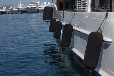Navyline Super Yacht Fender in schwarz - erhältlich in verschiedenen Größen - – Bild 2