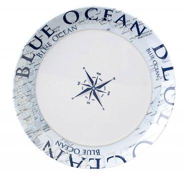 Navyline Blue Ocean - Hart-Kunststoff Dessertteller