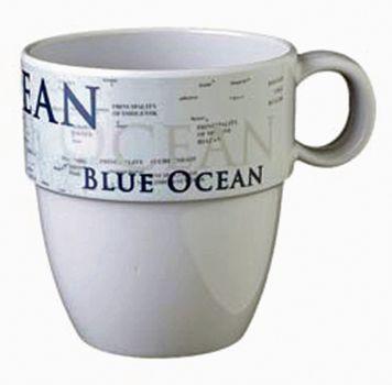 Navyline Blue Ocean - Hart-Kunststoff Henkelmug