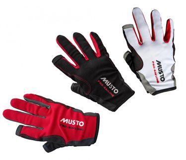 Musto Damen Herren Segelhandschuhe Essential Sailing Gloves - 2 Finger frei  – Bild 1