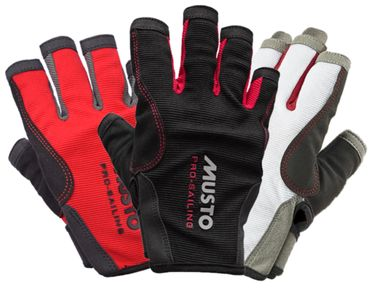 Musto Damen Herren Segelhandschuhe Essential Sailing Gloves - 5 Finger frei – Bild 1