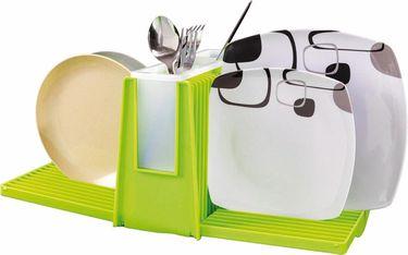 Faltbarer Geschirr Abtropfhalter in grün - 270x215x120mm -
