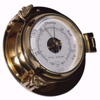 Royal Mariner Bullauge Instrumente - Yachtuhr Barometer und Comfortmeter im Set - 90 mm – Bild 3