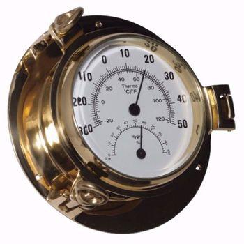 Royal Mariner Bullauge Instrumente - Yachtuhr Barometer und Comfortmeter im Set - 90 mm – Bild 4