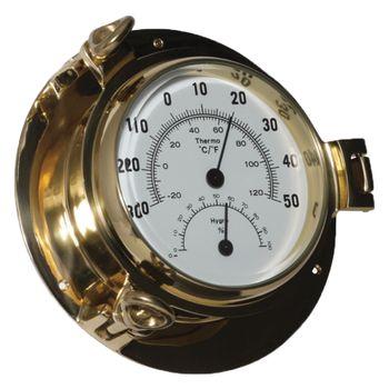 Delite Instrumenten Set - Royal Mariner Bullauge Instrumente - Yachtuhr Barometer und Comfortmeter im Set - 122 mm – Bild 4