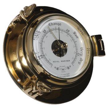 Delite Instrumenten Set - Royal Mariner Bullauge Instrumente - Yachtuhr Barometer und Comfortmeter im Set - 122 mm – Bild 3