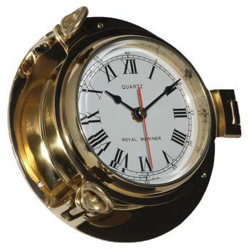 Delite Instrumenten Set - Royal Mariner Bullauge Instrumente - Yachtuhr Barometer und Comfortmeter im Set - 122 mm – Bild 2