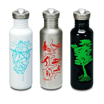 Klean Kanteen Edelstahl Trinkflasche - Classic Graphics Collection 800ml 27 oz – Bild 1