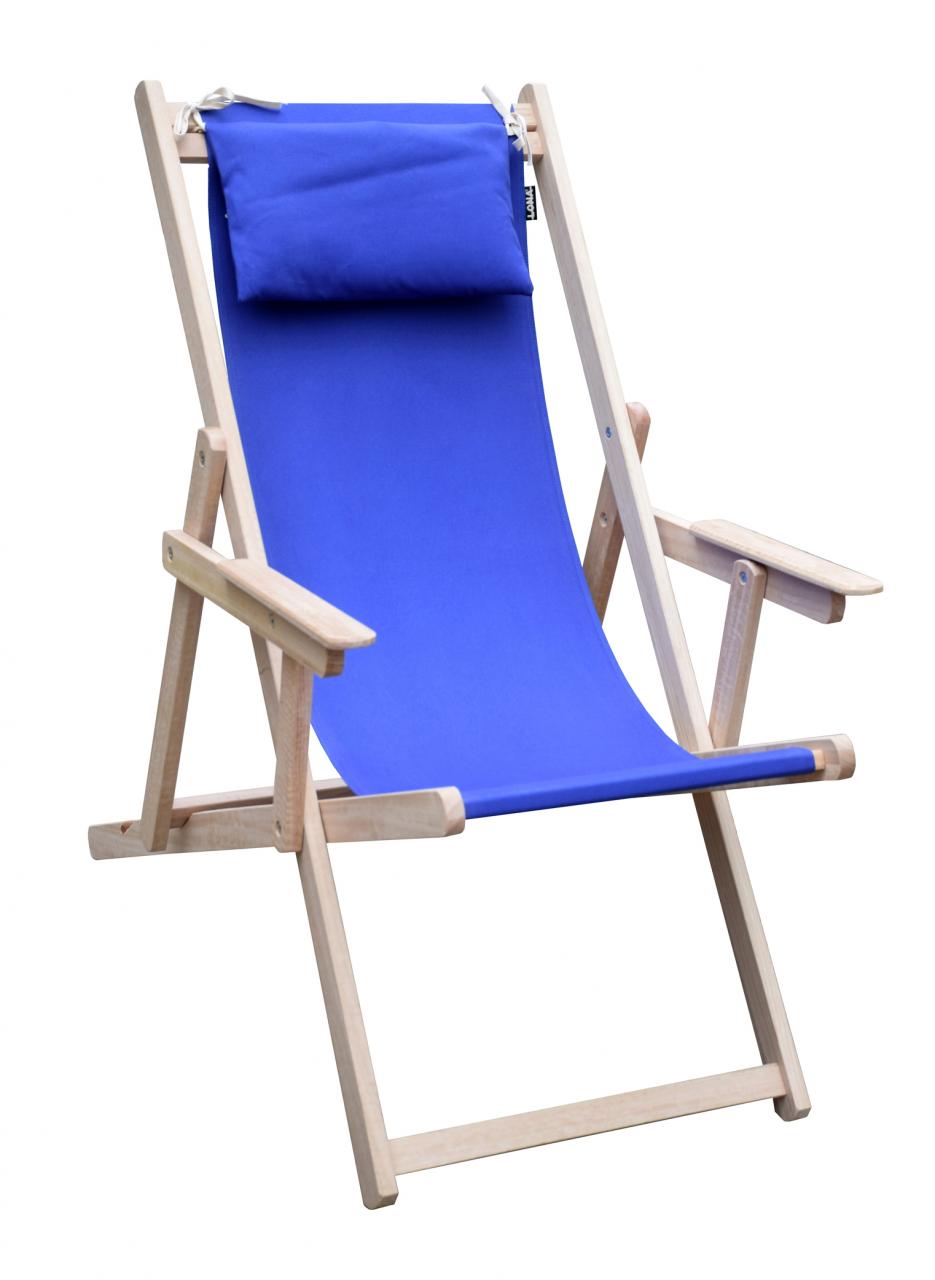 tumbona silla de playa de madera de eucalipto un lona plegable