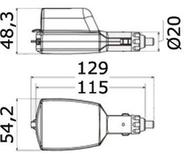 Osculati Doppel USB Adapter für Zigarettenanzünder - 2x USB & einziehbarer Mikro USB – Bild 5