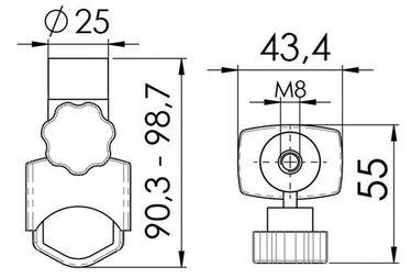 Ersatz Halterung für Osculati Such-Scheinwerfer Night-Eye – Bild 3