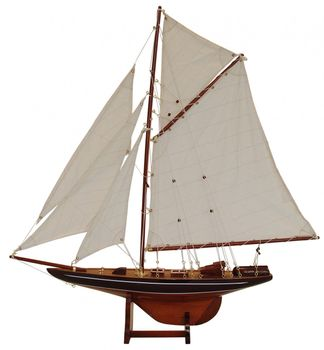 Batela Holz Modell Segelyacht Columbia Blue - 69cm