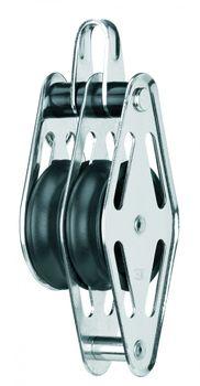 Sprenger Gleitlagerblock - 2 Rollen, Bügel, Hundsfott Ø12 mm Tauwerk