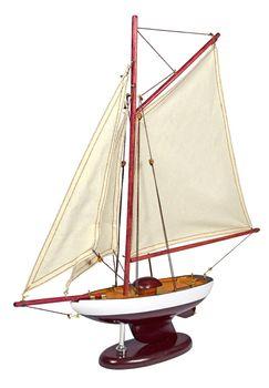 Navyline Holz Modellboot mit Standfuß - Schaluppe – Bild 1