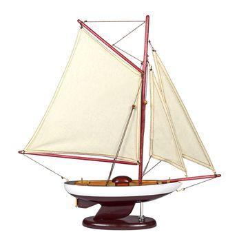 Navyline Holz Modellboot mit Standfuß - Schaluppe – Bild 3
