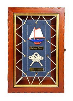 Navyline Schlüsselkasten mit Segeltuch - Schlüsselhaken – Bild 1