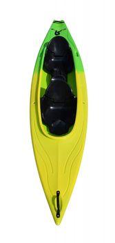crazy4sailing Kajak 2 Sitzer gelb/grün – Bild 2