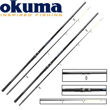 2 Okuma G-Force Beach 12' 360cm 110-225g Brandungsruten Set – Bild 1