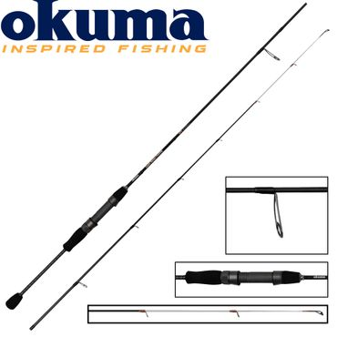 Okuma Light Range Fishing UFR 216cm 3-12g Spinnrute  – Bild 1