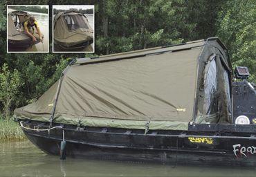 Black Cat Special Boat Cave 360x220x105cm Angelzelt Bootszelt – Bild 2