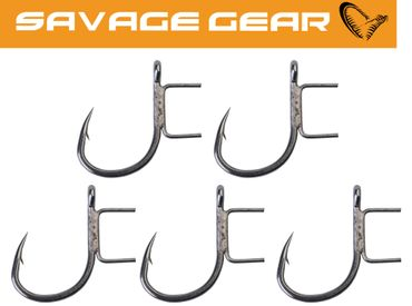 Savage Gear Bigfish Twin Spike Stinger Hook - 5 Stingerhaken – Bild 1