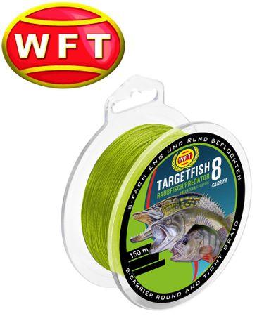 WFT TF8 Raubfisch Schnur chartreuse 150m