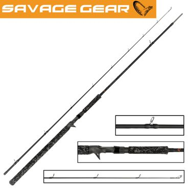 Savage Gear Black Savage Trigger 249cm 100g Spinnrute – Bild 1