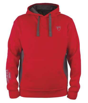 Fox Rage Red/Grey Ribbed Hoody Pullover – Bild 2
